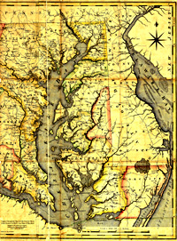Eastern Shore and the Chesapeake Bay, 1795